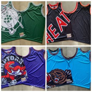 23 James Wade 3 12 MorantHertsLakersCelticsrapacesGrisáceos de la vendimia Mitchell Ness cara grande Baloncesto Jersey 04