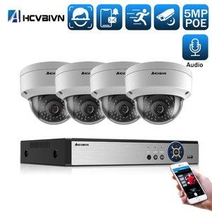 4CH 8CH POE 5MP 48V NVR System 5MP H.265 سجل الصوت NVR كاميرا كيت في P2P IR CCTV المراقبة