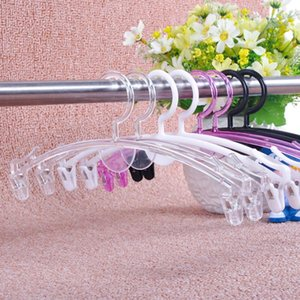 giyim mağazası OWF923 için klip özel iç çamaşırı askısı ile Şeffaf plastik moda külot askı kalınlaşmış sutyen askısı