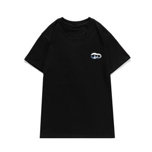 20s Men's TShirt Letters Printed T Shirt Women Couple Summer Tee Casual Short Sleeve Solid Color Homme High Quality 2 Colors Size S-2XL