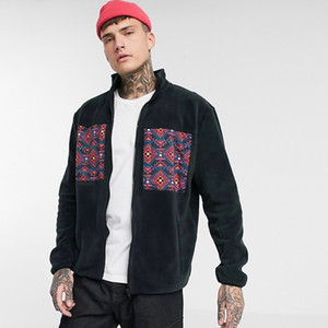 E-Baihui 2020 Hip-hop Style Stand-collar Men's Coat Trench Coat, Autumn Chain Loose Polar Fleece Long-sleeved Top 209WC-MZH0709-15