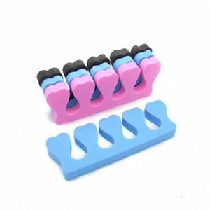 400pcs / lot Rose Nail Art Toes doigts ressuage éponge Separators doux Outils Gel UV Manucure Pédicure Polish F413 8kHt n