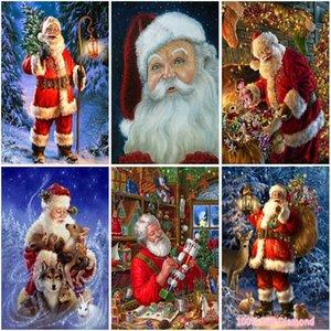 5D Алмазные Картина Санта-Клаус Мультфильм Полный Круглый Drill снег Картина Стразы DIY Мозаика Home Decor Рождественский подарок