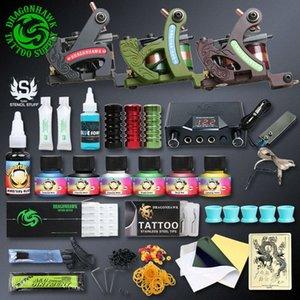 Professionellen Tattoo-Kits Top Artist Komplett-Set 3 Tattoo Maschinengewehr-Futter und Schattierung Inks Strom Needles Versorgung Canadian Tattoo Sup ofcq #
