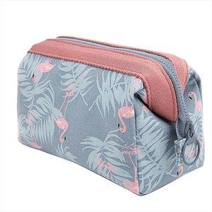 Sacs cosmétiques OLAGB New Mode Polyester multifonctions Femmes Sac cosmétique portable de stockage Voyage de haute qualité Sac de maquillage
