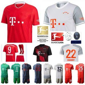 Hombres Mujeres Niños Bayern Munich camiseta de fútbol Robert Lewandowski Davies Kimmich Thomas Muller Serge Gnabry Neuer Goretzka Kit de Fútbol Coutinho