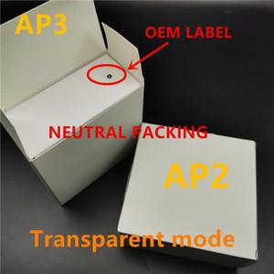 블루투스 헤드폰 포드 AP3 프로 AP2 W1 이어 버드 2 세대를 충전 H1 칩 공기 창 3 AP3 투명 모드 금속 힌지 무선