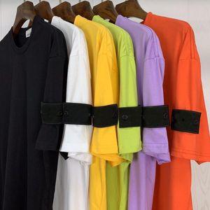 2020 Новые мужские футболки высокого качества, МАЙКИ Mans Женщины Дизайнерская Пары вскользь с коротким рукавом Мужская Круглый шеи тройников 6 цветов