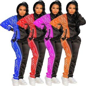 womens sportswear long sleeve shirt legging 2 piece set outfits jacket pants tracksuit bodycon sportsuit klw5039