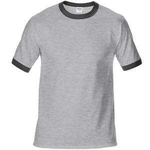 100% cotone T-Shirt Bianco 2020 T shirt Uomo manica corta magliette Solid Homme Tee Shirt vendita calda vestiti di estate formato europa XS-XXL