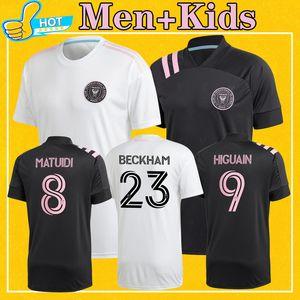 Inter Miami 2020 camiseta de fútbol Inicio de distancia en blanco Negro BECKHAM Matuidi HIGUAIN PIZARRO entre Miami Camisa 20 21 Fútbol