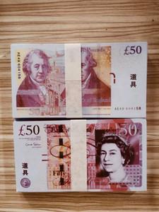 NightClub Bar Británicos United Kindom Billetes de banco 50 libras Nota para el recolección o regalos de negocios Prop & Fake Money Paper Papel GBP Precios Billetes 29