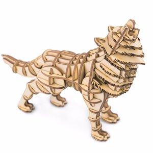 Robotime DIY 3D AnimalBuilding خشبية لغز لعبة لعبة الجمعية هدايا عيد الميلاد للأطفال الأطفال الكبار نموذج البناء مجموعات الهوايات