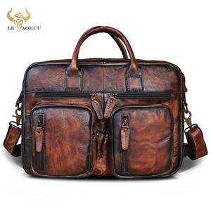 Oil Wax Leather Unique Wine Business Briefcase Maletin Bag Male Design Travel Laptop Document Case Tote Portfolio Bag k1013