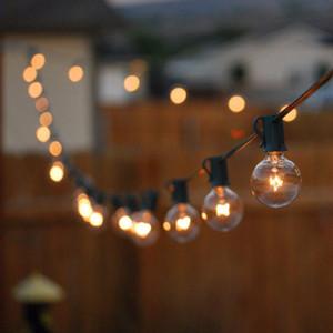 Patio de luz Luces de Navidad G40 partido Globo de cuerdas, de 25 pies caliente blanca de 25 Eliminar los bulbos de la vendimia, decorativo al aire libre del patio trasero Garland