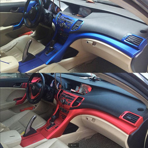 For Honda Accord 8 2009-2013 Interior Central Control Panel Door Handle 5D Carbon Fiber Stickers Decals Car styling Accessorie