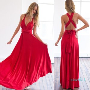 Hot Sale Sexy dress Multiway Wrap Convertible Boho Maxi Club Red Dress Bandage Long Dress Party Bridesmaids Infinity Robe Longue Femme