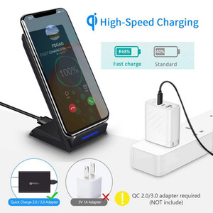 15W Qi Wireless Charger Stand Fast Charge For Samsung S20 S10 S9 C iPhone 11 Pro Max XS XR X 8 Plus