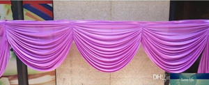 NEW valance decorate swags of backdrop Party Curtain tableapron swags decoration of the background