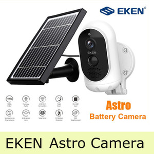 Top 1080P Full HD Eken Astro IP Camera con pannello solare Rilevamento del movimento resistente alle intemperie 6000mAh Camera di sicurezza della batteria con rilevamento del movimento