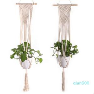 تعليق الزهرية الثنية صافي الحدائق اليدوية الرافعة ديكور الحديقة النبات سلسلة حقيبة معلقة الزهرية مصنع ديكور المنزل الإبداعية LSK828