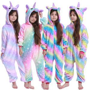 Kigurumi Stitch Kids Pajamas Unicorn Pajamas For Children Animal Cartoon Blanket Baby Costume Winter Boy Girl Licorne Onesie 200922
