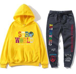 комплект 20SS Горячая продажа Sweatsuit Tracksuit Men Hoodies брюки Мужская одежда Толстовка Пуловер женщин вскользь теннис Спортивные костюм Пот костюм