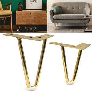 4 pezzi d'oro Hairpin Gambe protezioni per le gambe divano mobili Cabinet Mobili nuovi