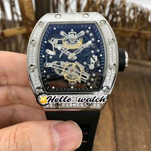 Yeni Çelik Kasa RM38-01 Siyah İskelet Miyota Otomatik Erkek İzle 38-01 Elmas Bezel Kauçuk Kayış Spor Saatleri Hello_watch 2 Dial Renk
