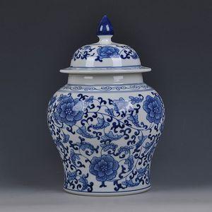 barattolo di Jingdezhen blu e Tempio Bianco vaso bagagli Teiera cinese zenzero vaso Vasi Decorazione d'epoca porcellana vaso di ceramica