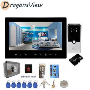 DragonsView 7 pouces vidéophone Sonnette Interphone 1000TVL Accueil visuel Intercom vision nocturne avec détection de mouvement