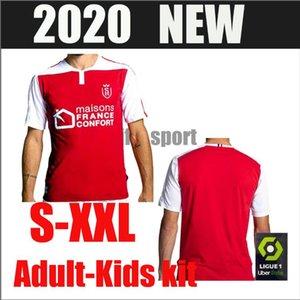 2020 2021 de futebol Stade Reims jerseys DISASI CAFARO KONAN DIA FOKET CHAVALERIN Zeneli maillot de pé 20 camisas kit de futebol 21 Homens crianças
