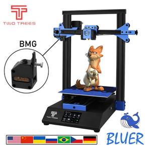 Impressoras Turkish Duas árvores Bluer Impressora 3D DIY Kit Full Metal Frame Touch Screen Alta precisão Drucker BMG Extrusora