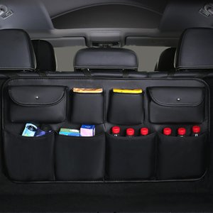 2020 New PU leather Car Rear Seat Back Storage Bag Multi-use Car Trunk Organizer Auto Stowing Tidying Auto Interior Accessories