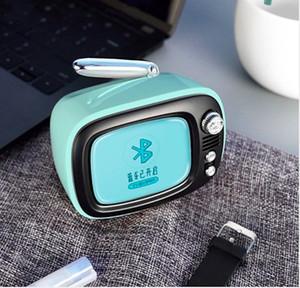 New LOFREE TV B.DUCK Mini Bluetooth Speaker Yellow Wireless Portable Retro TV Modeling Alarm Clock Speaker gift