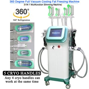 360° cryolipolysis freezing fat vacuum slimming cryo therapy machine cool tech fat freezing machine with 5 cryotherapy handles