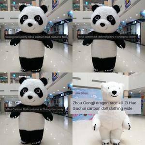 de dibujos animados d7RHU 2m2.6m3m la ropa de la panda puede inflables hinchables Muñeca Muñeca ser alquilado por los osos polares