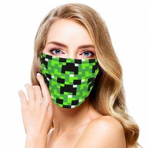 Minecraft maquillaje antirub Sin nombre máscara Abrir protector de cara Potable agua máscara de hoja individual estereotipos tela de la impresión de seda del hielo de ancho completo