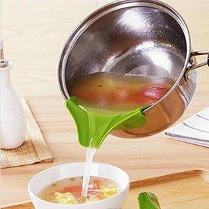 Cucina Helper Food Grade Silicone Leakage Prevention dispersione Pozzanghera arrotondato Bordo Deviatore Liquid Diversion diverte YP402