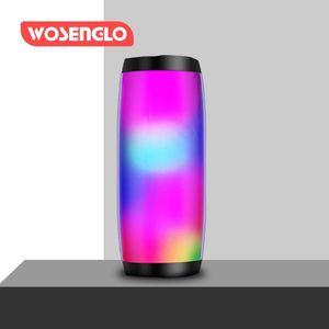 TG157 Portable Speakers Bluetooth Column Wireless Speaker Powerful High Boombox Outdoor Bass HIFI TF FM Radio with LED Light