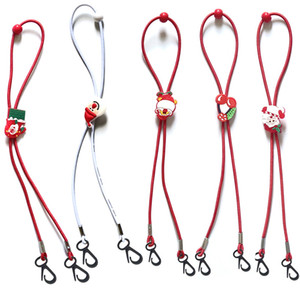 25см Рождество Маски Lanyard Регулируемой длина маски Extender ремень Для детей Санта-Клаус мультфильм маски с ремешками защиты талрепом