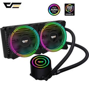 Les ventilateurs de refroidissement darkFlash Boîtier PC Eau de refroidissement Radiateur RGB AIO CPU Cooler Fan Sync TDP 350W CPU Cooler Pour liquide