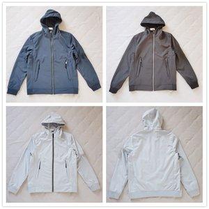 Neue Ankunftmens-Jacke # 40927 heiße Art und Weise Herbst-Winter-Jacken mit Hut LIGHT SOFT SHELL-R JACKE Designer Fashion Sweater