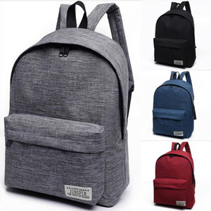 NoEnName Null 1PC Stylish Women Men Shoulder Canvas Portable Large Backpack Rucksack College School Bag Travel Hiking Bag