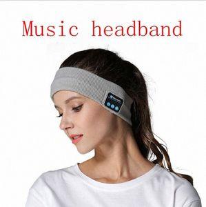 Bluetooth de punto de Música diadema Caps inalámbrica Bluetooth para auricular Ejecución de yoga caliente gimnasio altavoz al aire libre Accesorios para el cabello YL5 wPxN #