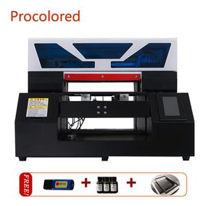 Procolored voll automatischer A4 UV-Drucker mit Touch Screen für Flasche PVC-Telefon-Kasten-T-Shirt Acryl Metall DTG Flachdruck