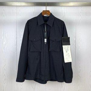 FANTASMA PIECE overshirt ALGODÃO NYLON TELA TOPST0NEY Trabalho Moda casaco homens camisa jaqueta mulheres ilha Mens Windbreaker manga longa jaqueta de pedra