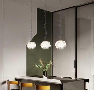 Pendentif bulle à bulle de verre nordique Lumières Hanglamp Loft Décor industriel Suspending Nuages Pendentif Lampe Accueil Décor Lignes de cuisine