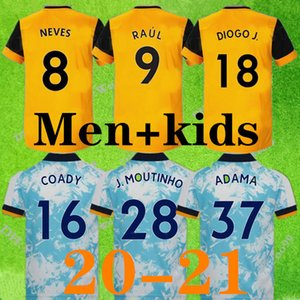 20 21 lupi NEVES RAUL la casa del pullover di calcio 2021 della camicia ADAMA DIOGO J. Coady NETO Podence DOHERTY BOLY J.OTTO portiere di calcio degli uomini + kids