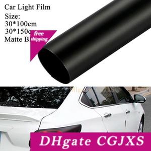 30 배 100cm 매트 블랙 색조 필름 헤드 라이트 테일 라이트 자동차 비닐 랩 데칼